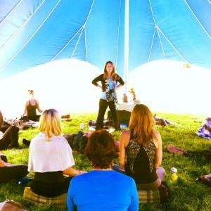 Lisa Guyman - Leading Meditation at Wanderlust Copper 2013