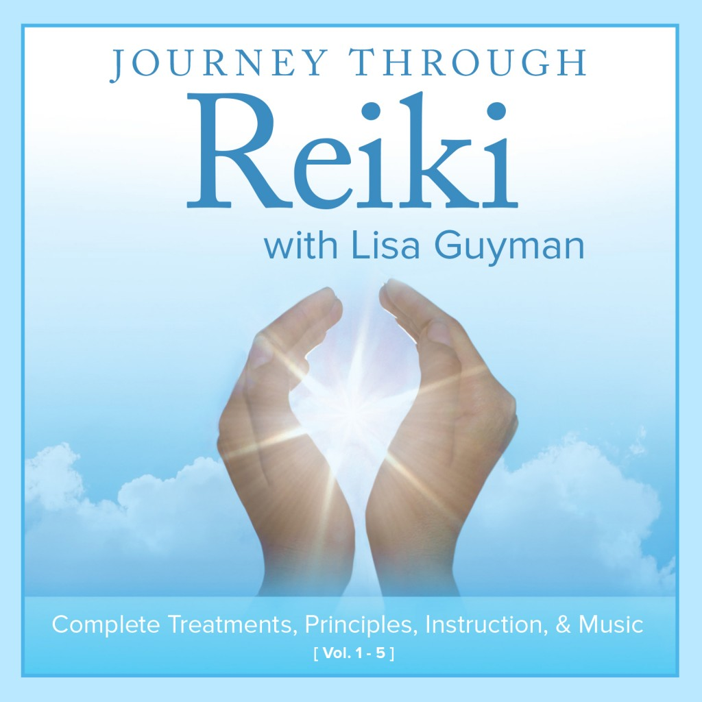 Journey Through Reiki:  Complete Treatments, Principles, Instruction & Music – 5 CD set by Lisa Guyman